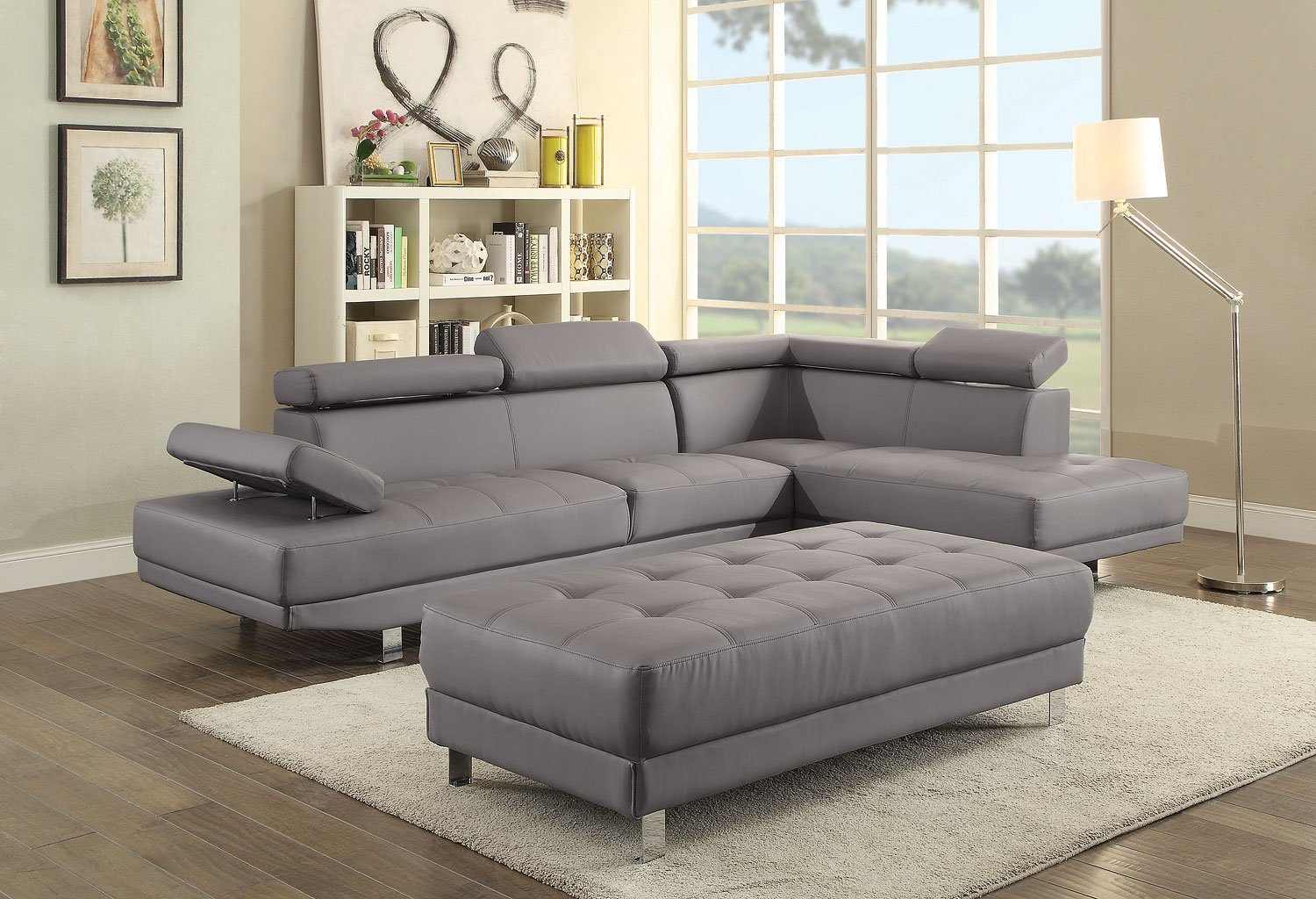 Milan Sectional Set Gray Glory Furniture Furniture Cart
