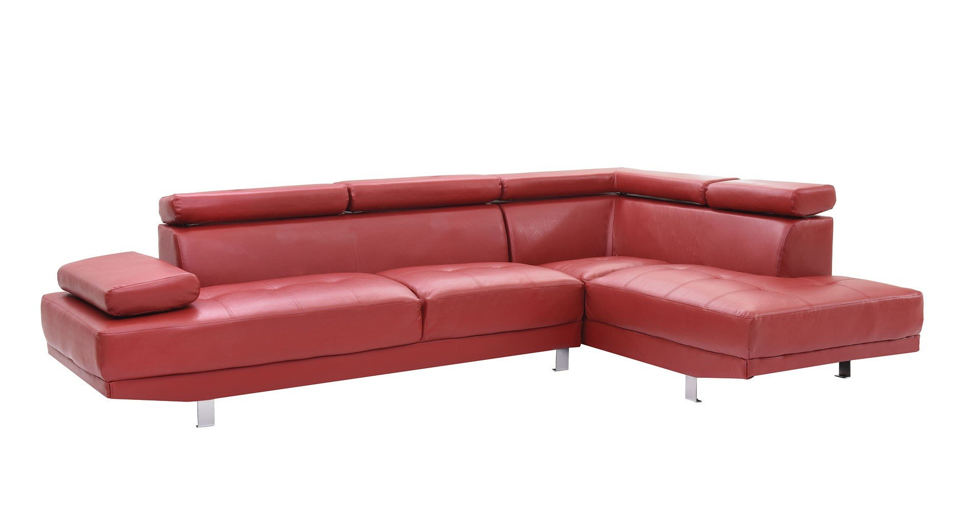 Milan Sectional Red Glory Furniture Furniture Cart
