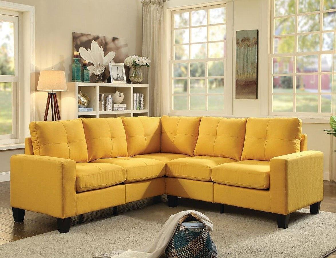 Newbury Sectional (Yellow) Glory Furniture