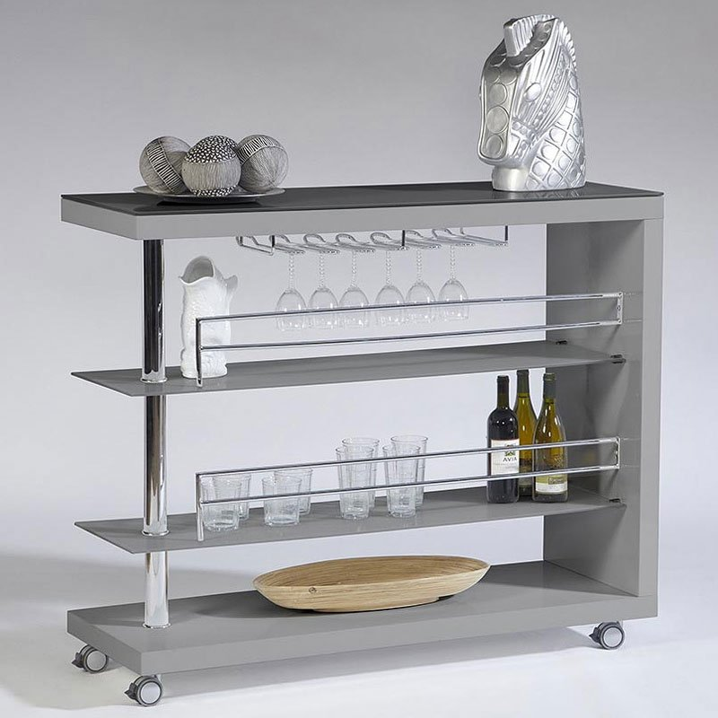Bolero Bar Cart (Light Gray) Cramco