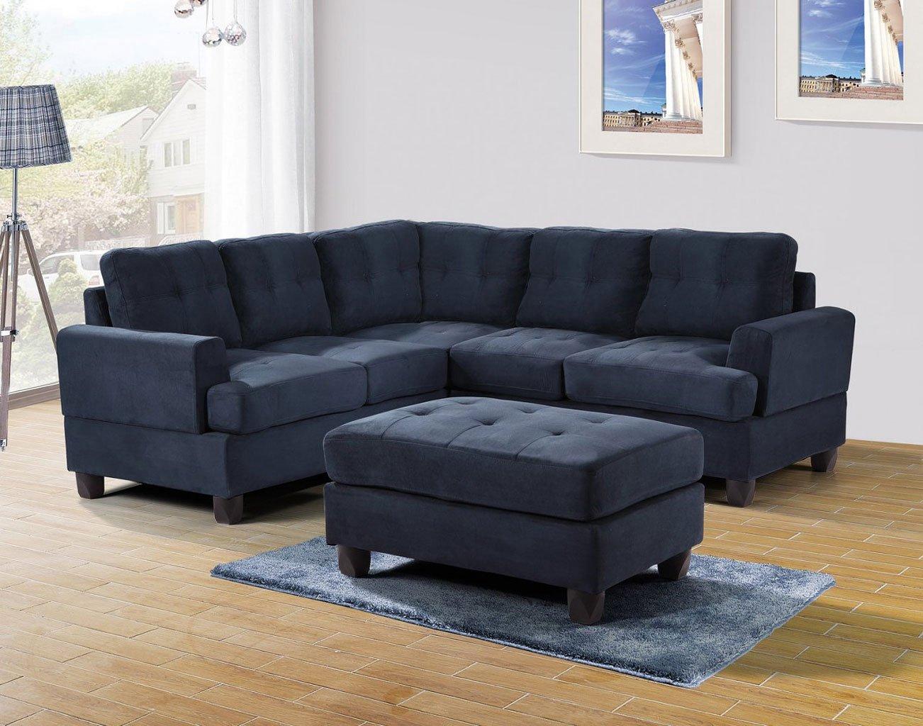 g510 corner sectional set navy blue g510b sc g630 o glory furniture