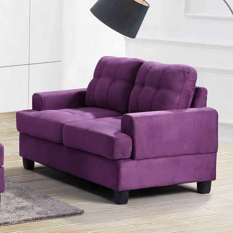 G517 Living Room Set (Purple) Glory Furniture