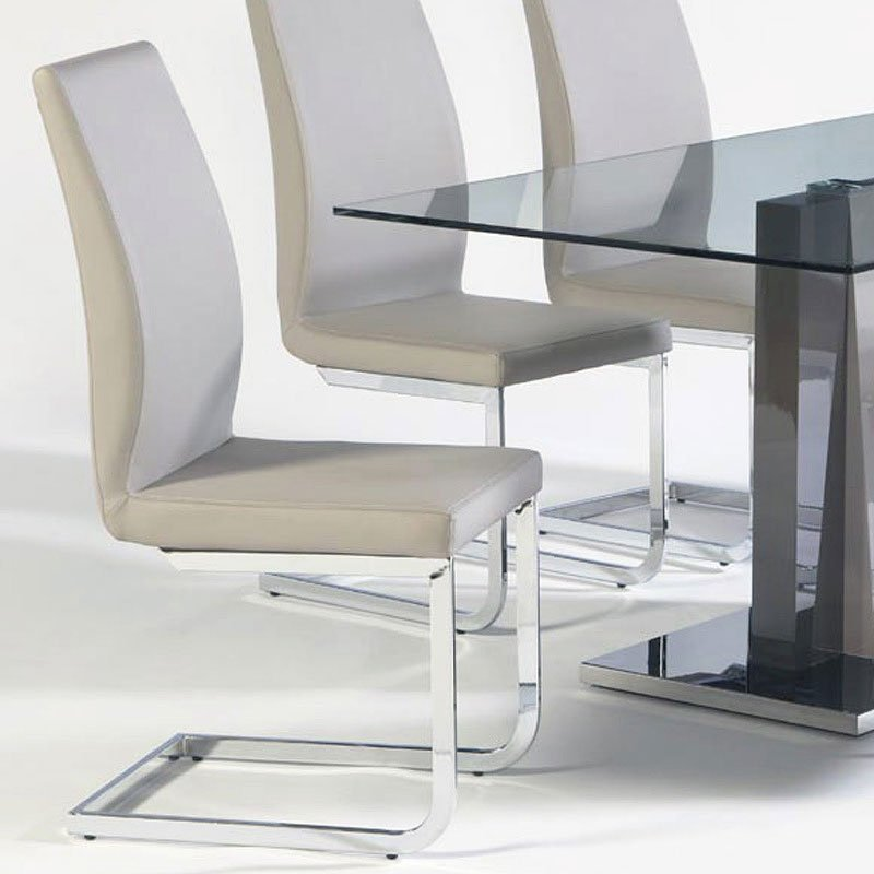Champagne Dining Room Furniture: Lyra Dining Room Set W/ Champagne Chairs Cramco