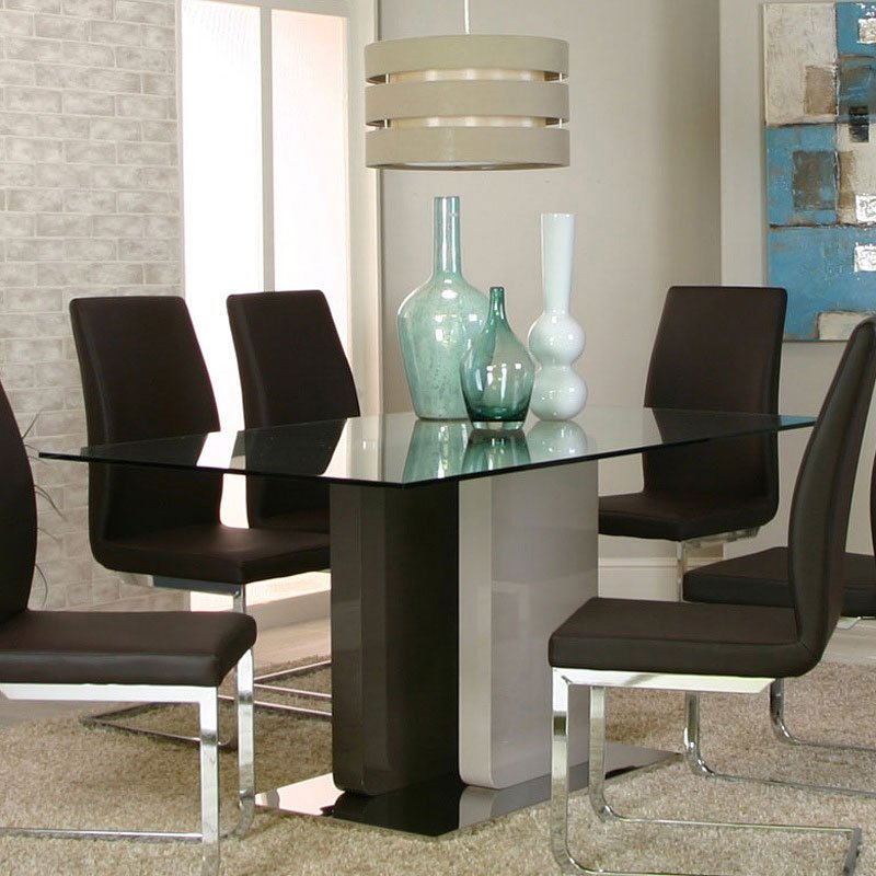 Champagne Dining Room Furniture: Tania Dining Room Set W/ Champagne Chairs Cramco