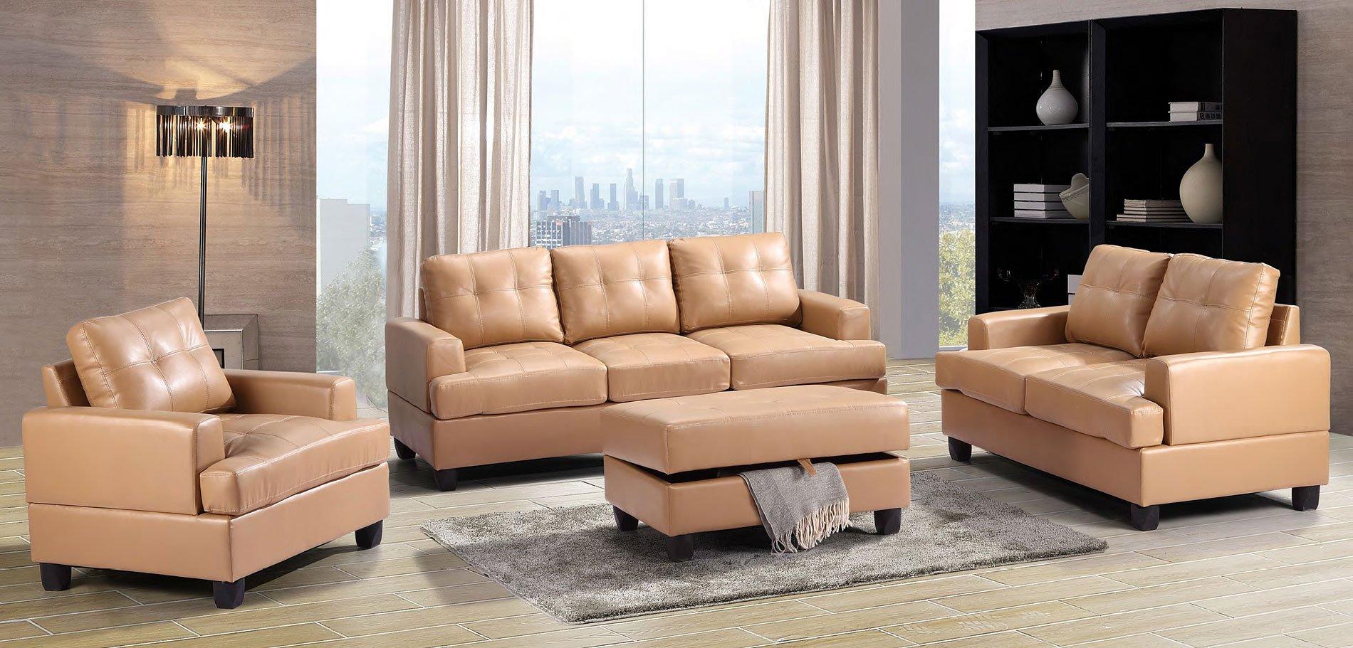 G581 Living Room Set (Tan)