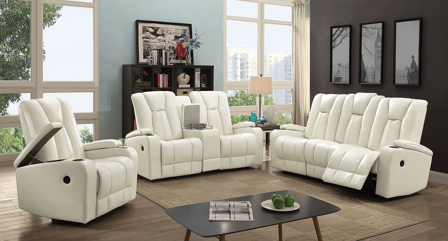 G658 Power Reclining Living Room Set White Glory Furniture