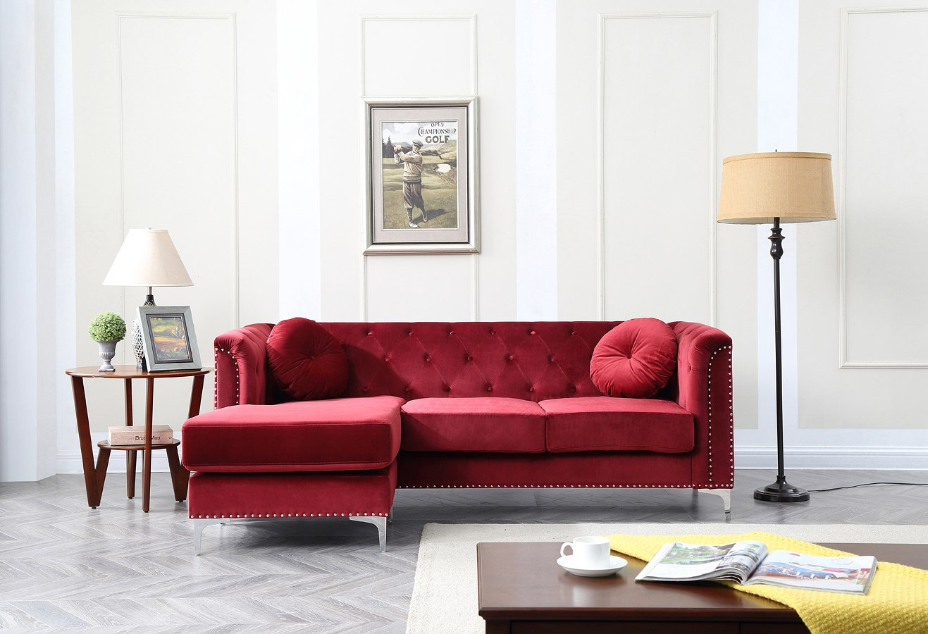 Swell Pompano Sofa Sectional Burgundy Download Free Architecture Designs Momecebritishbridgeorg