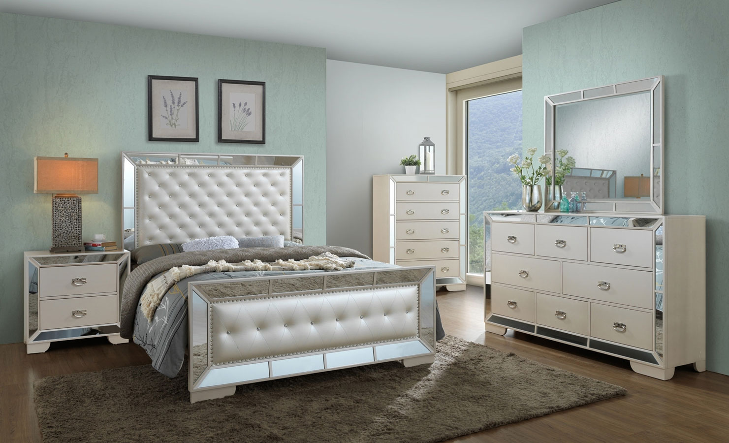 G8100a Youth Panel Bedroom Set Glory Furniture Furniture Cart