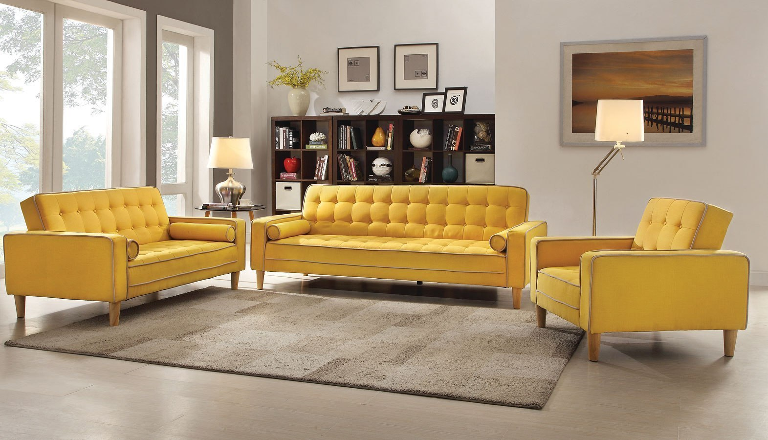 G834A Living Room Set (Yellow) Glory Furniture