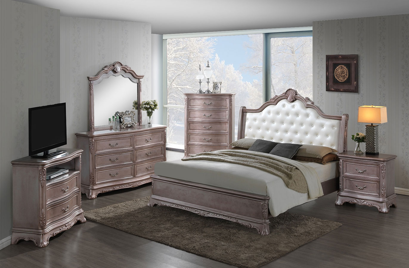 G9203a Panel Bedroom Set Glory Furniture Furniture Cart