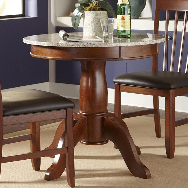 Granite Round Dining Table: Granite Convertible 34 Inch Round Dining Table A-America