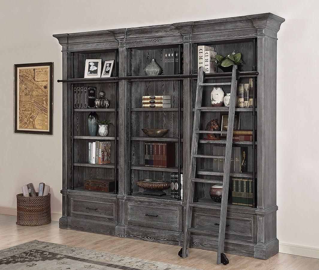 Gramercy Park 3 Piece Museum Bookcase W Ladder
