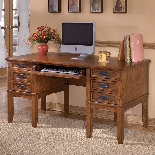 Cross Island Storage Leg Desk