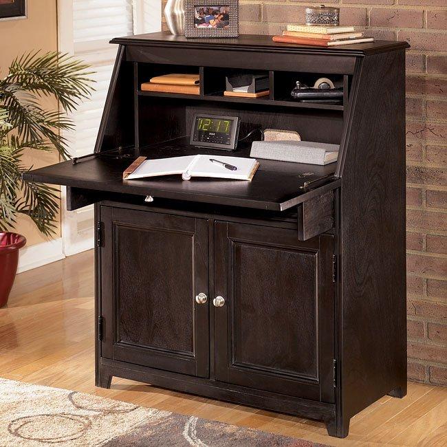Carlyle Drop Front Secretary Signature Design Furniture Cart