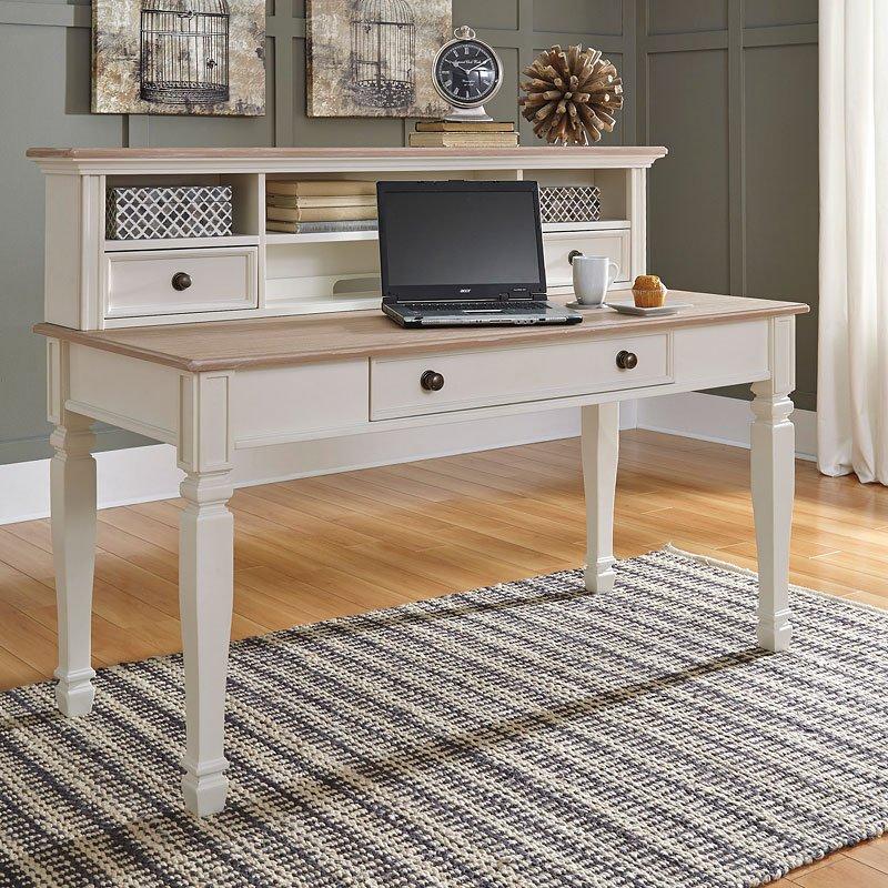 Sarvanny Home Office Desk W/ Hutch
