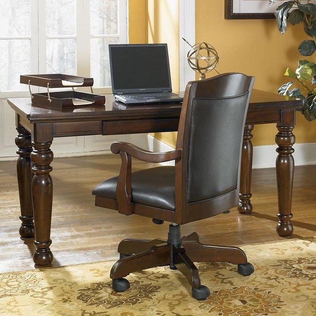 porter home office set with leg desk signature design furniture cart