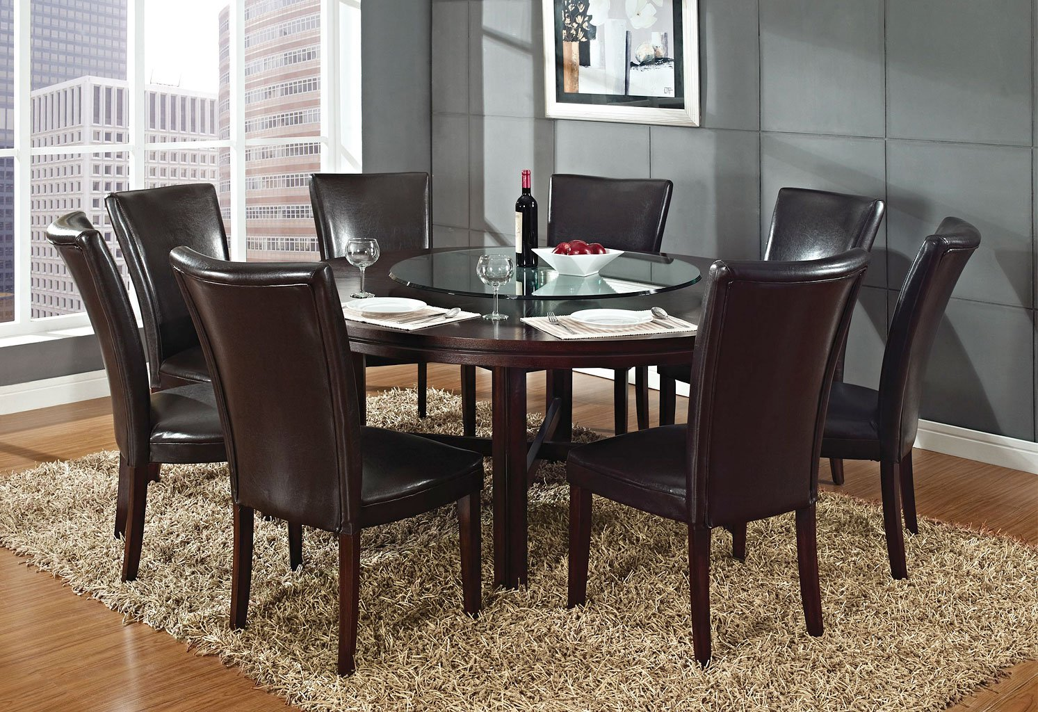 Hartford 72 Inch Round Dining Room Set