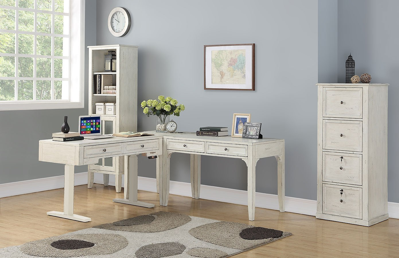 Amazing Hilton Modular Home Office Set W 48 Inch Desk Beutiful Home Inspiration Semekurdistantinfo