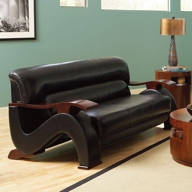 hollywood living room set black hl250 slr set steve silver furniture