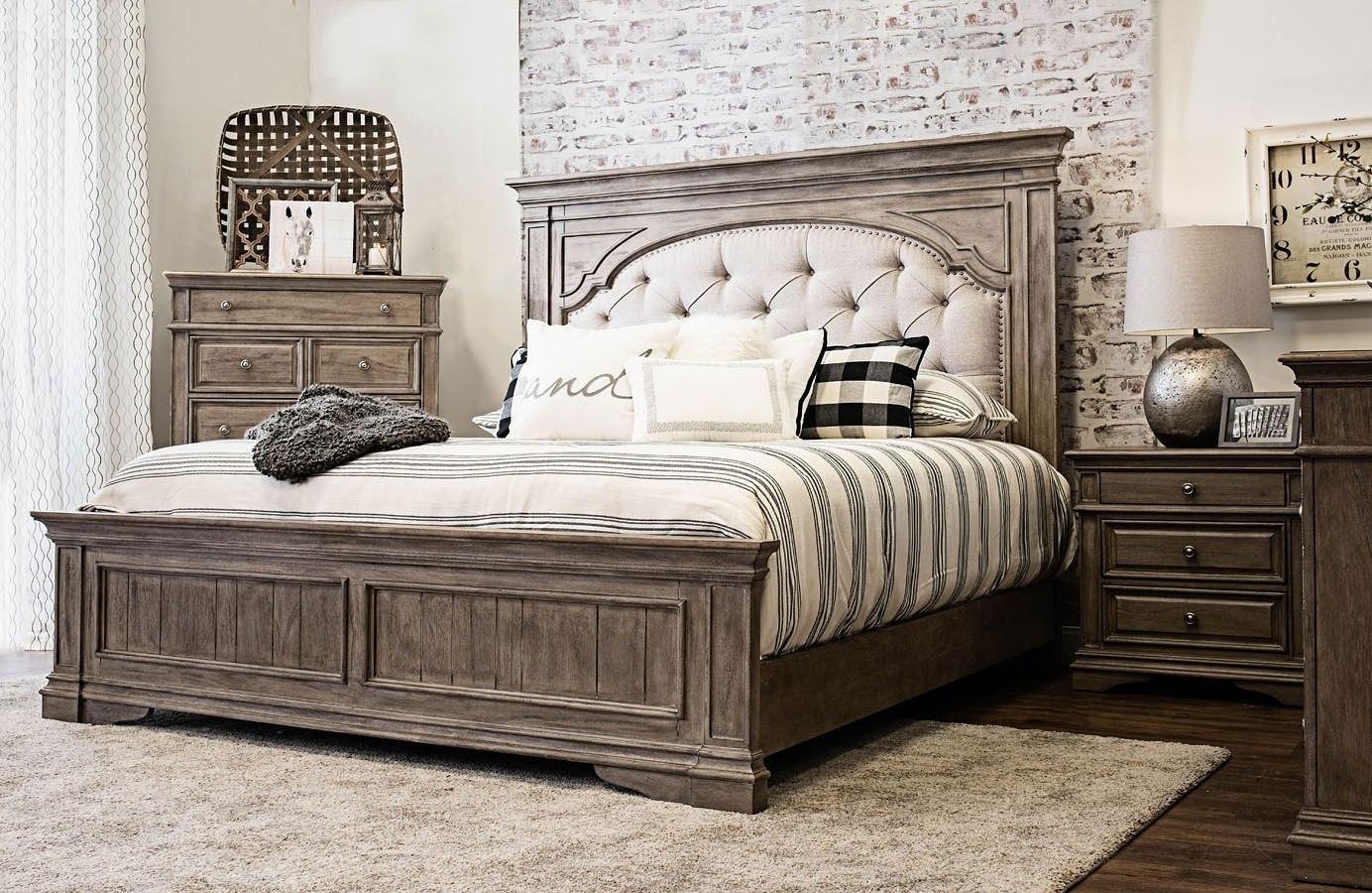 highland park panel bedroom set waxed driftwood steve