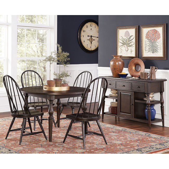 Heritage Round Dining Room Set w/ Windsor Chairs