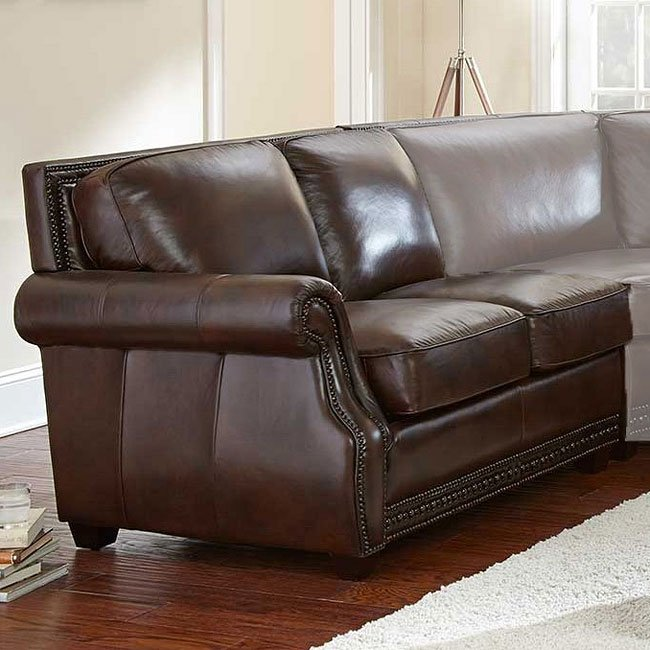 Henry Leather Modular Sectional Steve Silver Furniture