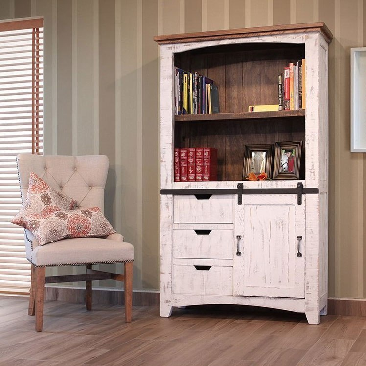 Pueblo Bookcase Brown White Ifd Furniture 1 Reviews