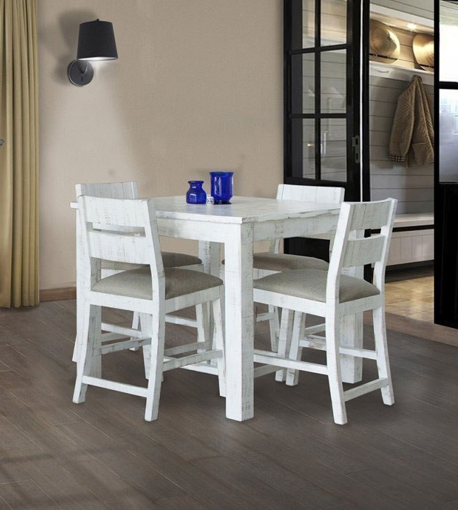 Pueblo Counter Height Dining Room Set Weathered White Ifd Furniture 1 Reviews Cart