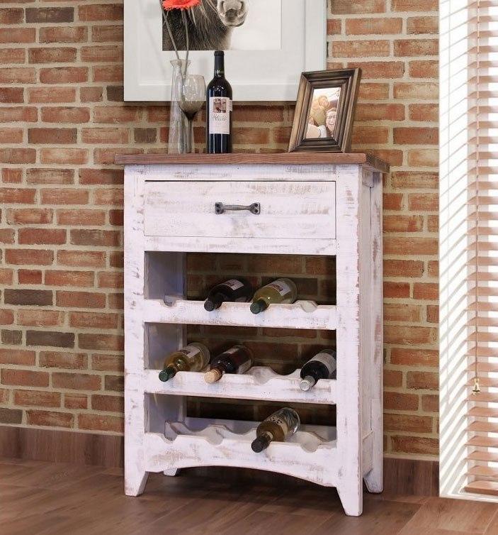 Pueblo Wine Rack Brown White Ifd Furniture Furniture Cart