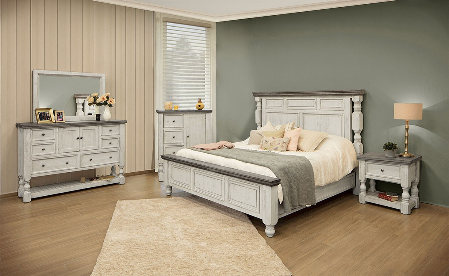 Stone Panel Bedroom Set IFD Furniture | Furniture Cart