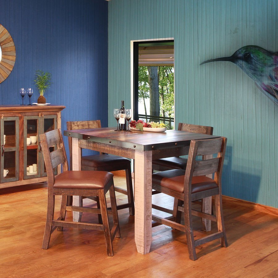Antique Counter Height Dining Room Set