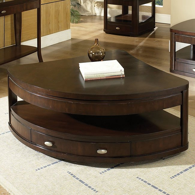 Isabelle Wedge Lift Top Tail Table W Casters