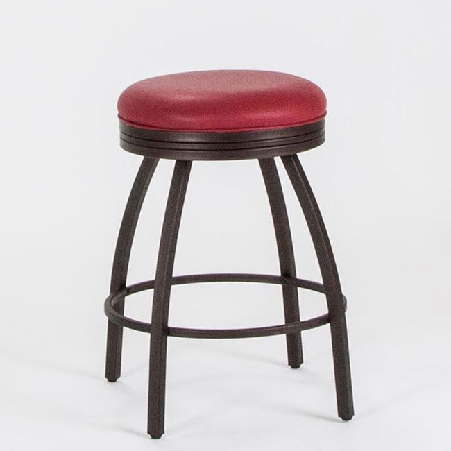 24 Inch Swivel Counter Stool Red Cramco Furniture Cart