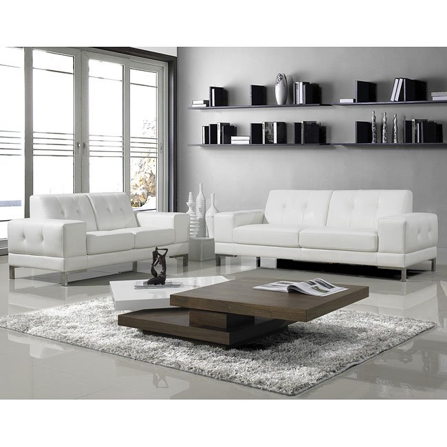 Manhattan Italian Leather Living Room Set