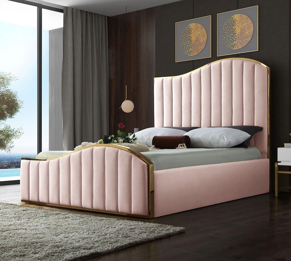 Ashley Furniture Meridian Idaho: Jolie Upholstered Bed (Pink) Meridian Furniture
