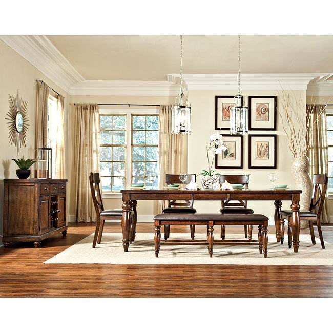 Bon Kingston Dining Room Set W/ Bench