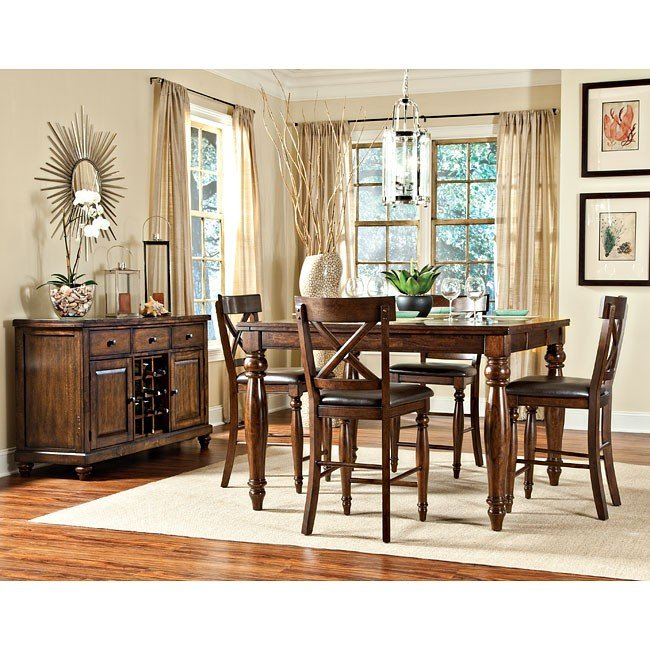 Superbe Kingston Counter Height Dining Room Set