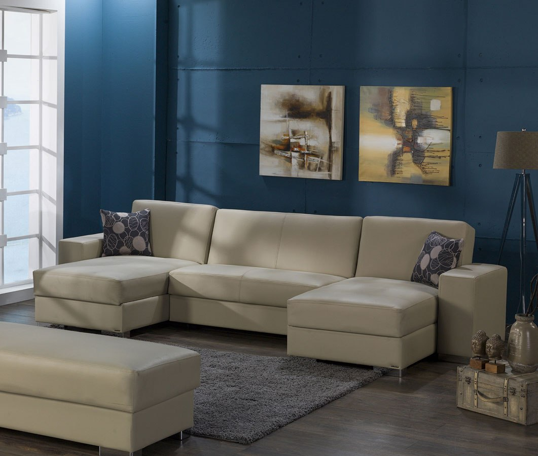 Kobe Small Modular Sectional Cream Istikbal Furniture