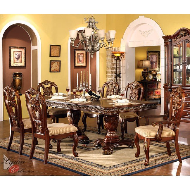 Traditional Dining Room Set: Regalia Formal Dining Room Set MainLine Furniture