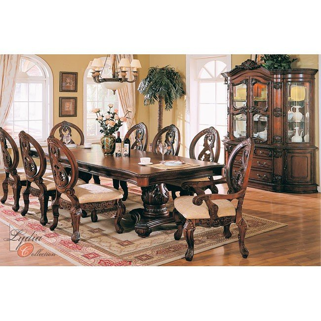 Traditional Dinning Sets Dining Room Formal Dining Room: Buckingham Formal Dining Room Set MainLine Furniture, 1