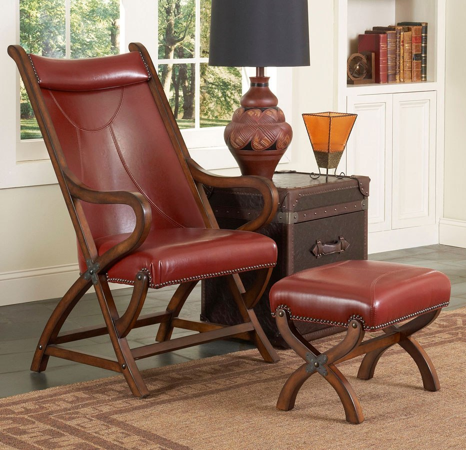 Hunter Chair W/ Ottoman (Red)