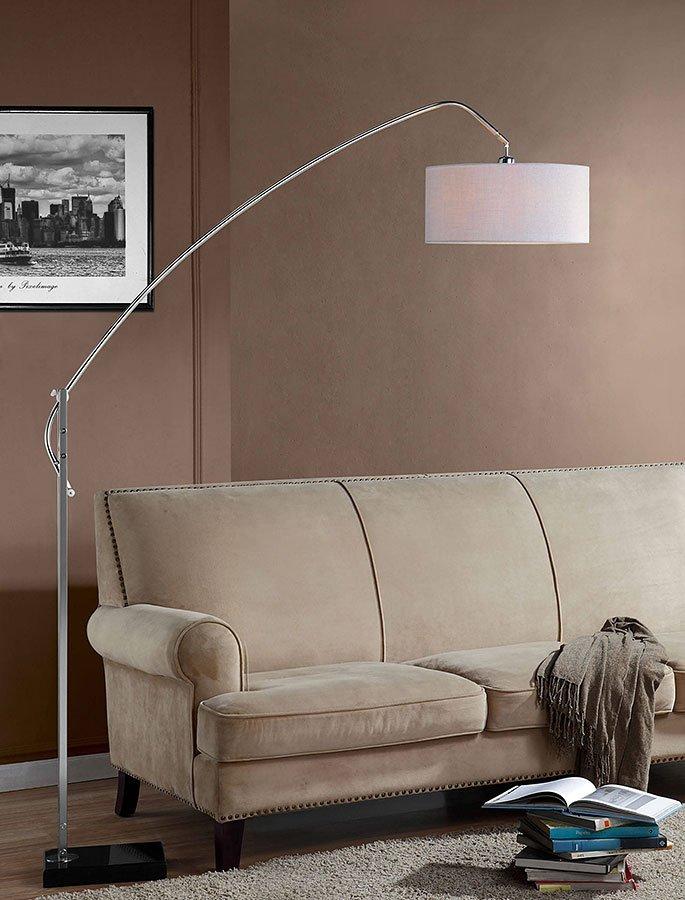 Lyla Adjustable Arch Lamp (Silver)