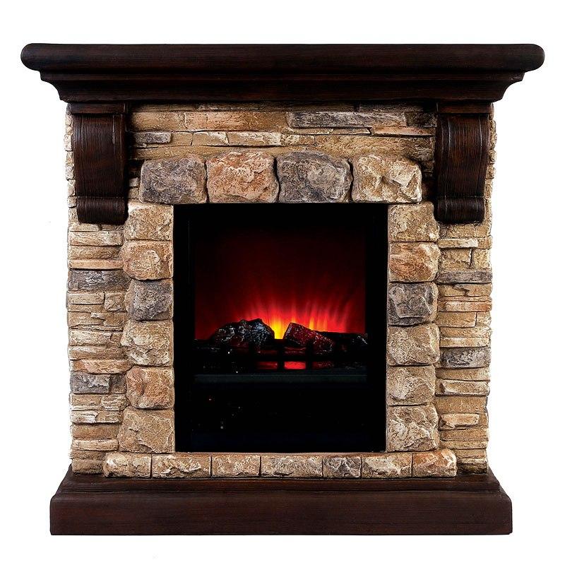 Vesti Portable Faux Stone Fireplace
