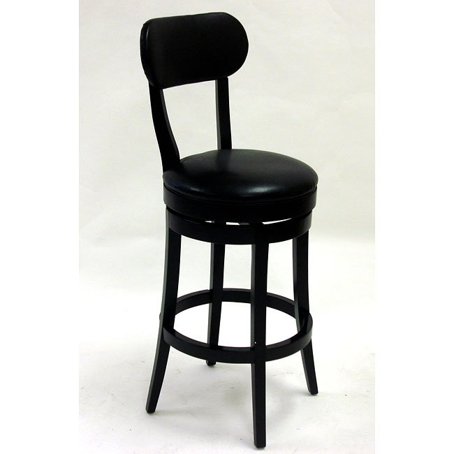 Roxy 30 Inch Swivel Barstool In Black Bicast Leather Armen Living