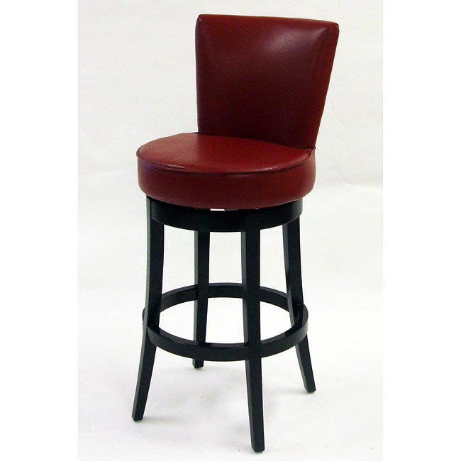 Boston 30 inch Swivel Barstool In Red Bicast Leather