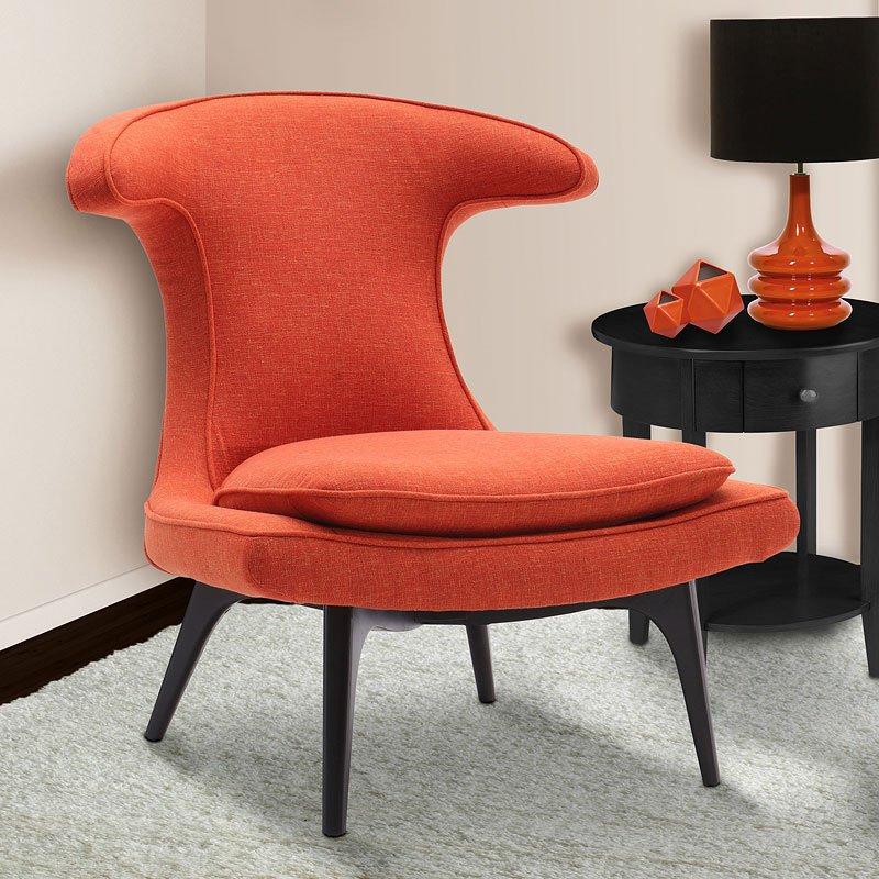 Aria Orange Accent Chair Armen Living