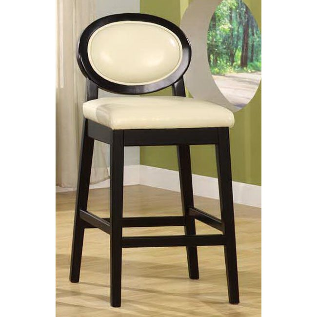 Martini 30 Inch Barstool Creme Leather Armen Living