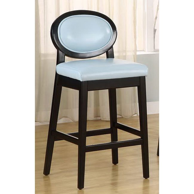 Martini 30 Inch Barstool Sky Blue Leather Armen Living