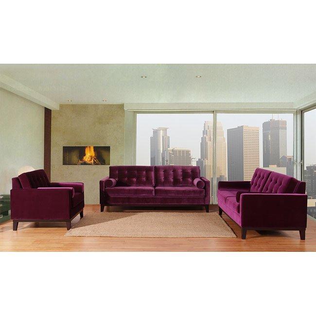 centennial living room set purple velvet armen living furniture cart. Black Bedroom Furniture Sets. Home Design Ideas