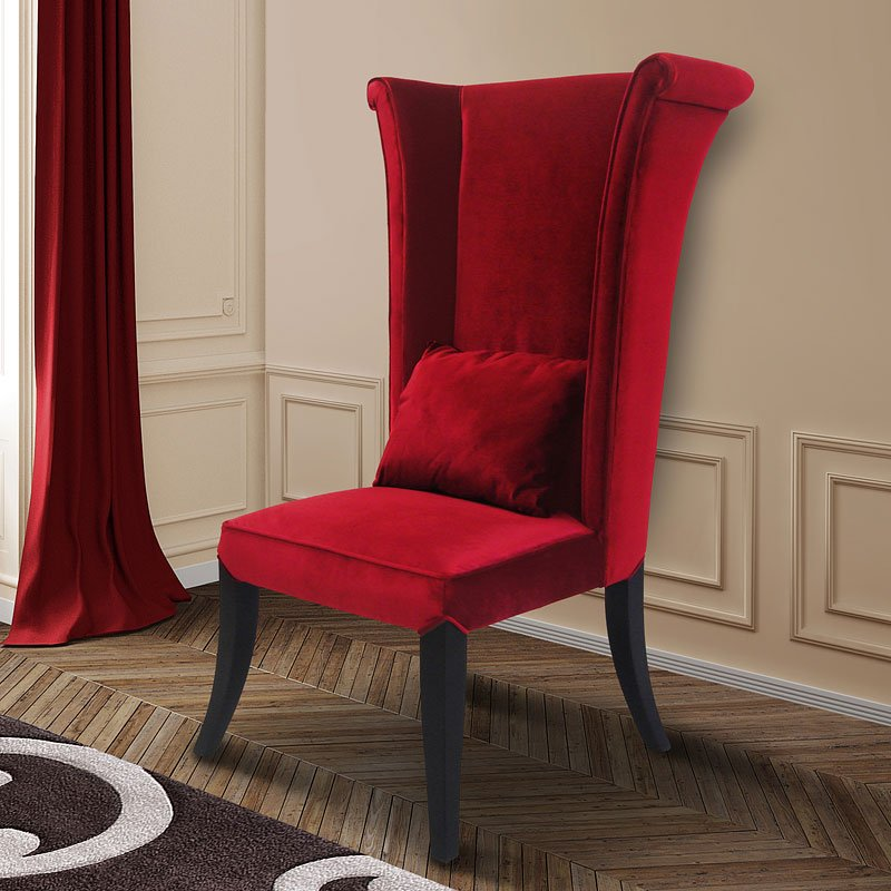 Merveilleux Mad Hatter Side Chair (Red)
